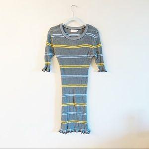 Need Supply   Farrow Ribbed Striped Stretch Dress